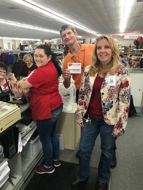 Photo of some of the staff members at Waterfront Thrift Stores
