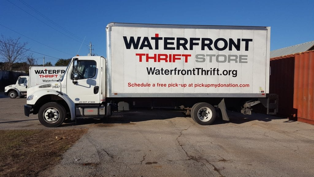 Photo of a Waterfront Thrift Stores truck