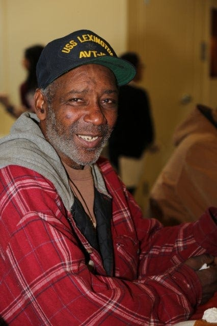 Photo of a veteran man, a client of Waterfront Rescue Mission