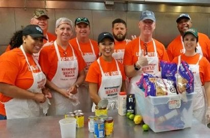 Photo of a corporate group volunteering at Waterfront Rescue Mission